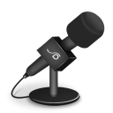 Microphone foam black icon