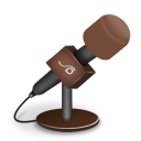 Microphone-foam-brown icon