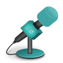 Microphone foam turquoise icon