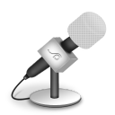 Microphone foam white icon