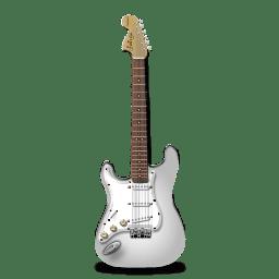 Guitar stratocaster white icon