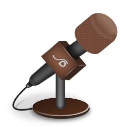 Microphone foam brown icon