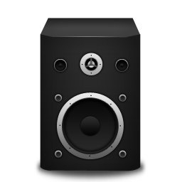 Speaker black icon