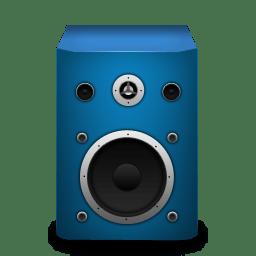 Speaker brightBlue icon