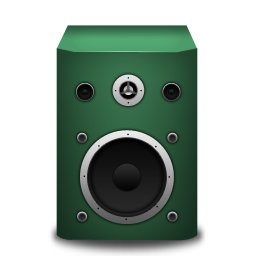 Speaker green icon