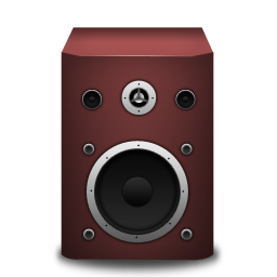 Speaker red icon