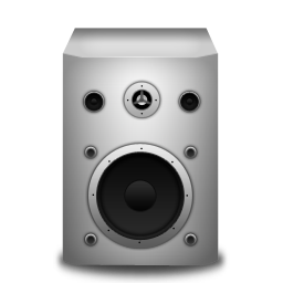 Speaker white icon