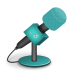 Microphone-foam-turquoise icon