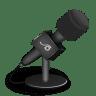 Microphone-foam-black icon