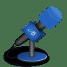 Microphone-foam-brightblue icon