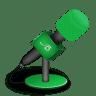 Microphone-foam-green icon