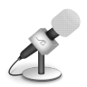 Microphone-foam-white icon