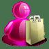 Shopping-girl icon