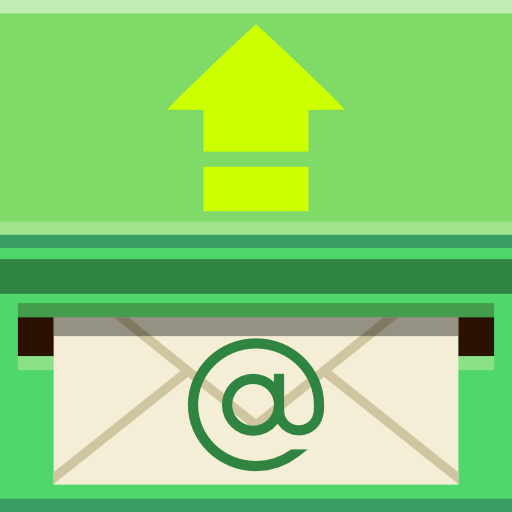 Places mail outbox icon