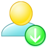 Import-to-group icon
