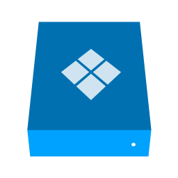 Bootcamp Drive Icon Phlat Blue Folders Iconset Shaunkleyn