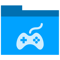 Games Icon Phlat Blue Folders Iconset Shaunkleyn