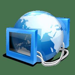 Blue internet icon