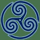 Blue Wheeled Triskelion 1 icon