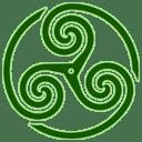 Green Wheeled Triskelion 1 icon