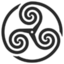 Grey Wheeled Triskelion 1 icon