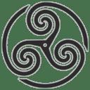 Grey Wheeled Triskelion 1 icon