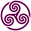 Mauve Wheeled Triskelion 1 icon
