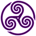 Purple Wheeled Triskelion 1 icon