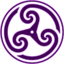 Purple Wheeled Triskelion 2 icon