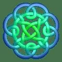 Bluegreen circleknot icon