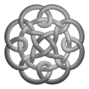Grey circleknot icon