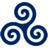 Blue Triskele icon