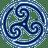 Blue Wheeled Triskelion 2 icon