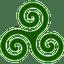 Green-Triskele icon