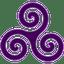 Purple-Triskele icon