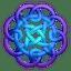 Purpleblue circleknot icon