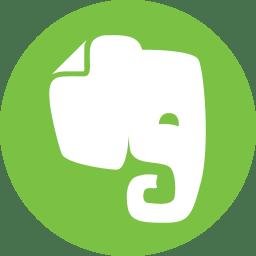 Evernote Icon Basic Round Social Iconset S Icons
