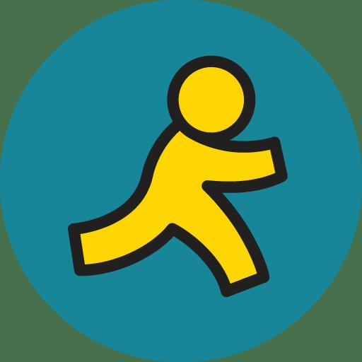 aim icon basic round social iconset s icons aim icon basic round social iconset