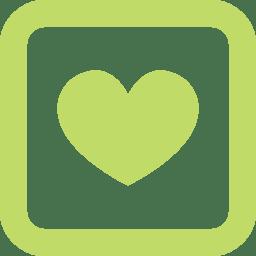 Social media love icon