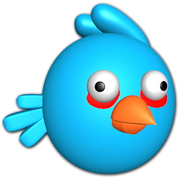 Bird blue icon