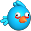Bird blue icon