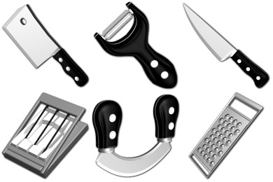 Sharp Kitchen Icons