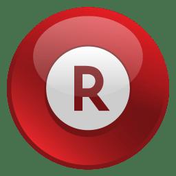 Rakuten Icon Glossy Social Iconset Social Media Icons