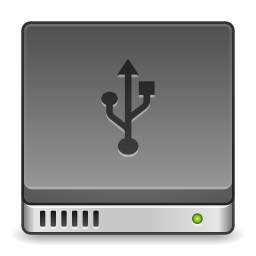 Devices drive harddisk usb icon