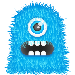 Blue Monster Icon Monster Iconset Spoongraphics