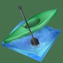 Kayak sprint icon