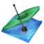 Kayak sprint icon