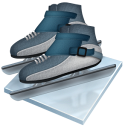 Short track speed skating icon