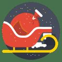 Santa cart icon