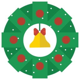 Christmas wrench icon